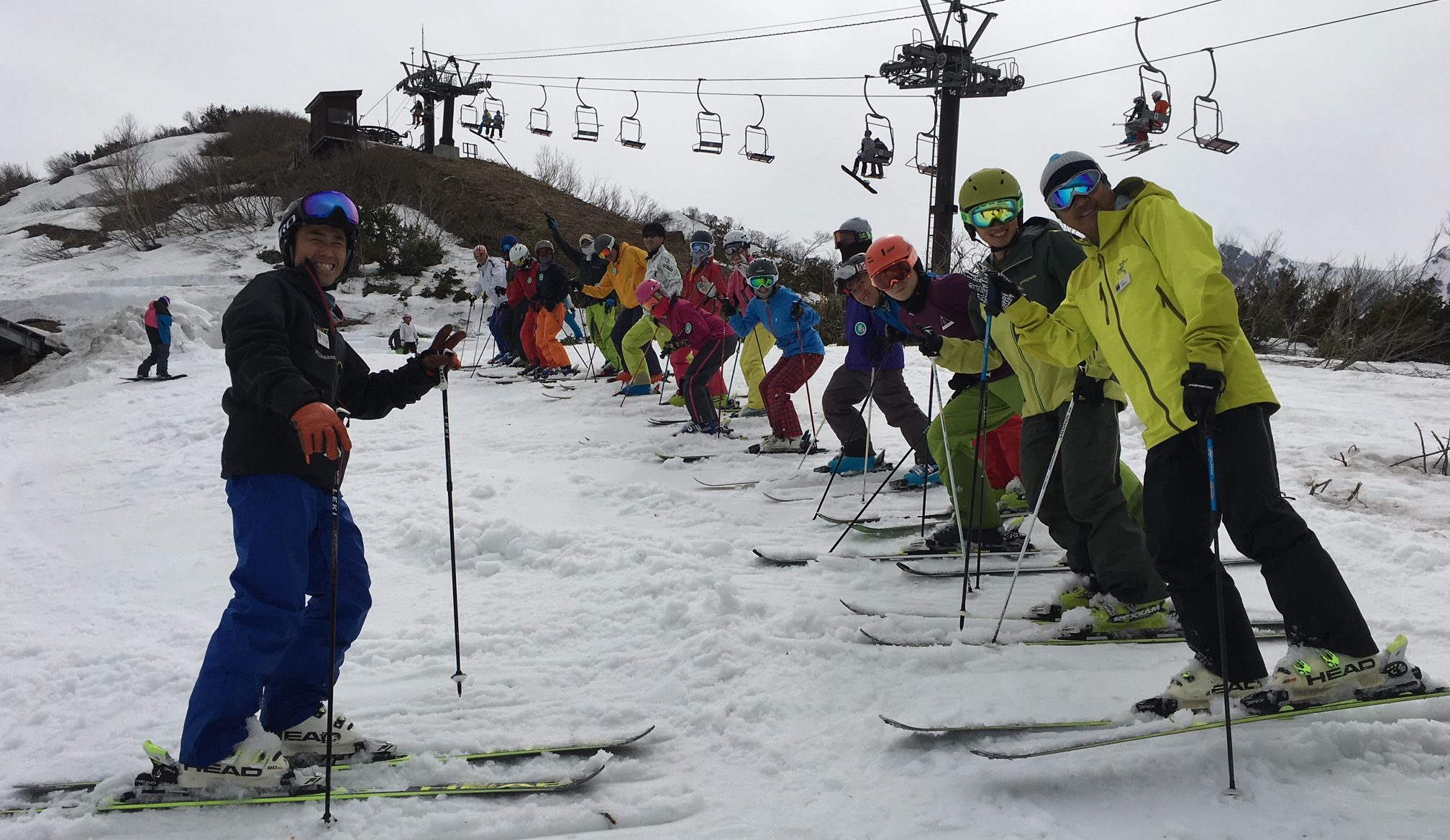 Group lesson being lead by a Hakuba47 instructor